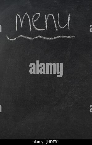 Menu word on chalkboard Stock Photo 222968982 - Alamy