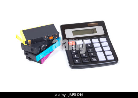 Close up of a simple calculator on a white background Stock Photo - simple credit card calculator