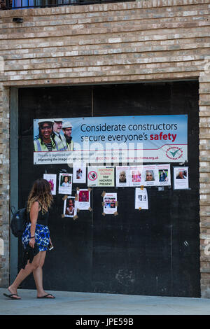 Posters displaying missing people following the devastating fire a - missing people posters