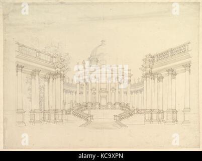 Design for Stage Set Centralized Villa with Cupola (Villa rotunda
