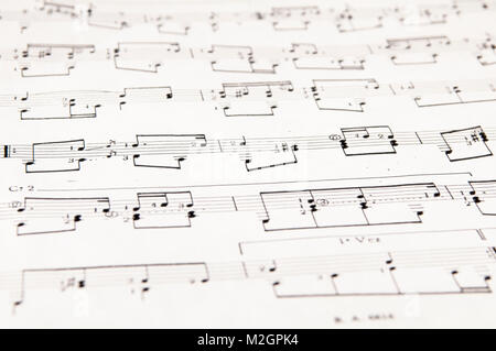 Abstract music background with different notes and lines Stock
