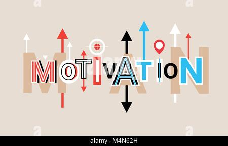 Mission Word Creative Graphic Design Modern Business Concept Over