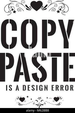 Copy - paste, ctrl c, ctrl v Stock Vector Art  Illustration, Vector - cool copy and paste art