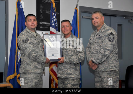 The 442d Maintenance Group condected a ceremony to welcome 19 new