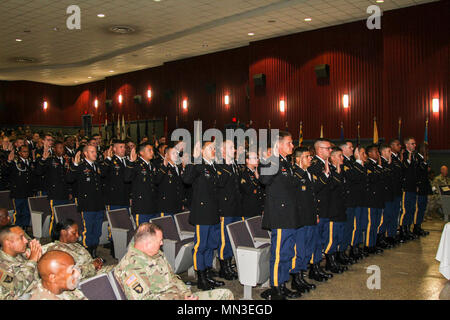 Newly promoted noncommissioned officers (NCO) of the 500th Military