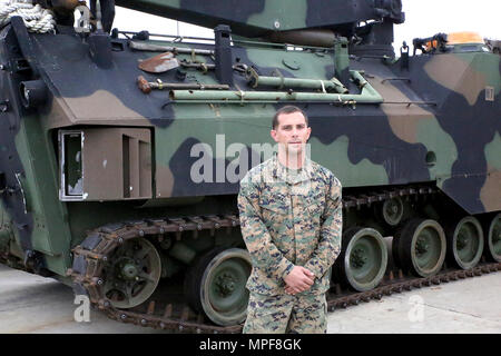 Staff Sgt Travis Thomas is an Amphibious Assault Vehicle mechanic