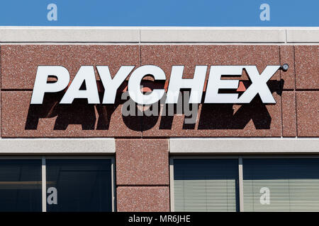Indianapolis - Circa May 2018 Local Paychex service office, Paychex