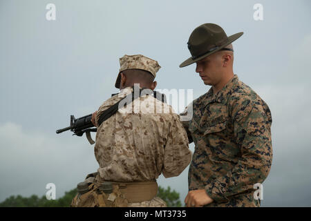 US Marine Lance Cpl Tyler Augustine assigned to I Company, 3d