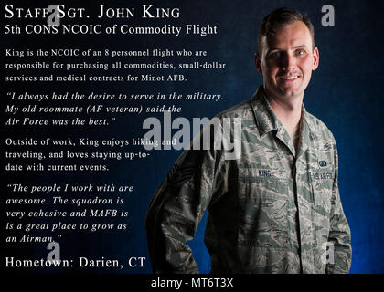 Staff Sgt John King, 5th Contracting Squadron NCO in charge of