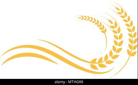 Wheat yellow logo icon design template vector Stock Vector Art - wheat template