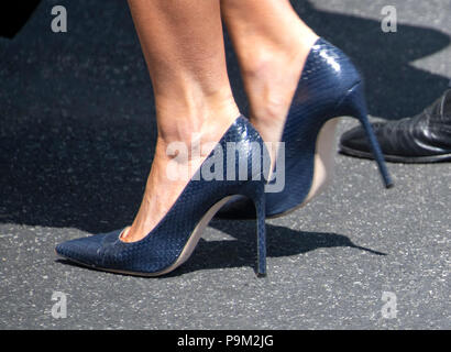 Close Up Of First Lady Melania Trump39s Shoes As She Walks