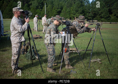 Students with the Marine Scout Sniper School, Advanced Infantry