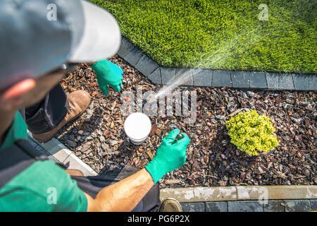 Underground Irrigation Garden Watering System Building Caucasian