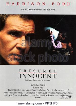 Original Film Title PRESUMED INNOCENT English Title PRESUMED