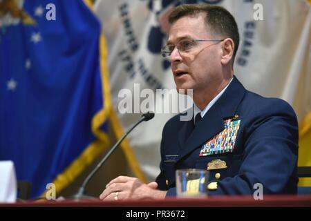 Coast Guard Rear Adm Scott McKinley, whose responsibilities include