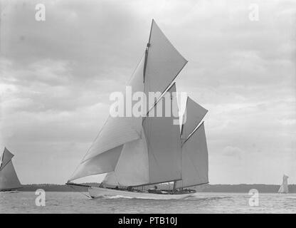 The 118 foot racing yacht \u0027Cariad\u0027, 1911 \u0027Cariad\u0027, named after the