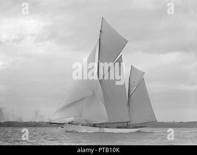 The 118 foot racing yacht \u0027Cariad\u0027, 1912 \u0027Cariad\u0027, named after the