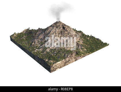 Digital illustration of parts of a volcano Stock Photo 223922001