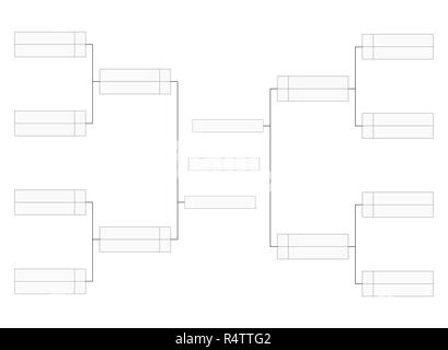 Tournament bracket Empty template for competition charts Stock