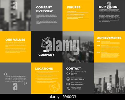 Company profile template - corporation main information presentation