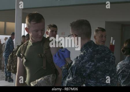 A student from the Marine Corps Communication-Electronics School