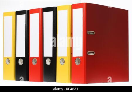 Black ring binders, blank labels Stock Photo 232432763 - Alamy