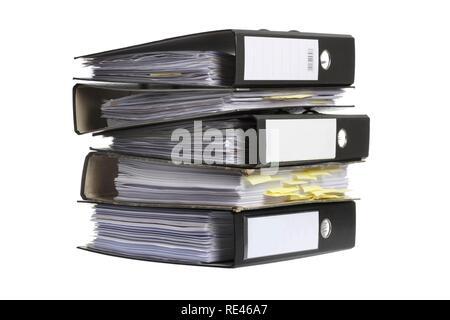Black ring binders, blank labels Stock Photo 232432762 - Alamy