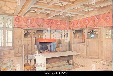 Rosa Decke Esszimmer Mit Tisch Und Stühlen Von Mark Brazier Jones    Esszimmer 1900