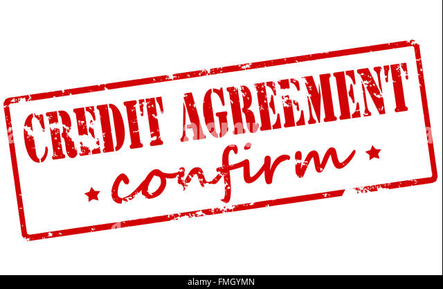 Rubber Stamp Text Credit Inside Stock Photos \ Rubber Stamp Text - credit agreement