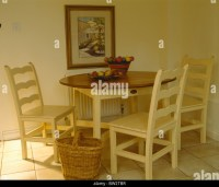 Simple Wooden Table Chairs In Stock Photos & Simple Wooden ...