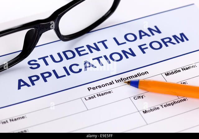 Student Loan Application Form Glasses Stock Photos  Student Loan - students loan application form