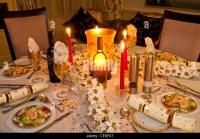 Christmas Dinner Table Setting Stock Photos & Christmas ...