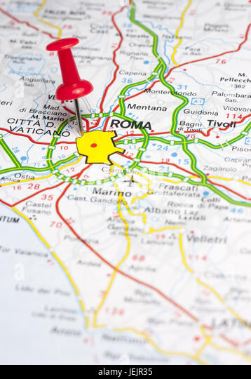Pinned Map Stock Photos  Pinned Map Stock Images - Alamy
