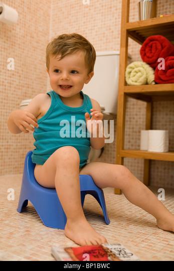Little Boy On Toilet Stock Photos & Little Boy On Toilet