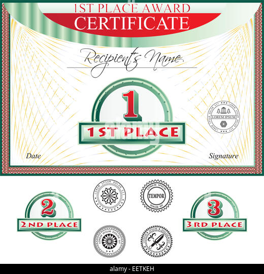 Certificate Of Merit Stock Photos \ Certificate Of Merit Stock - first place award template