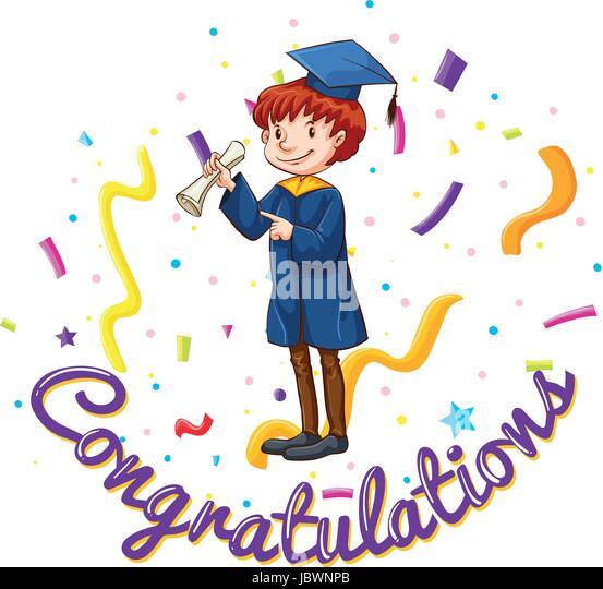 Template Certificate Congratulations Vector Illustration Stock