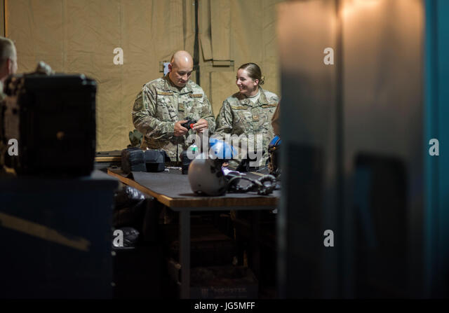 Aircrew Flight Equipment Tech Stock Photos  Aircrew Flight