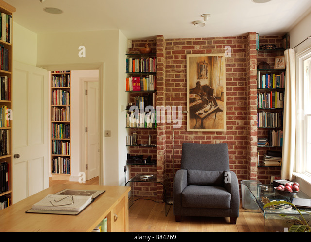 Living Room Wall Bookcase Stock Photos & Living Room Wall