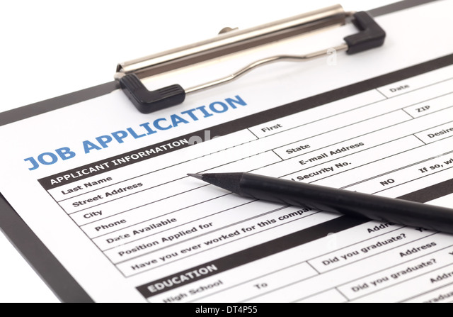 Employment And Support Allowance Esa Govuk Employment Application Form Stock Photos And Employment