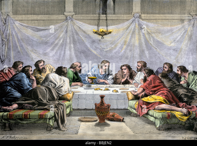 Royal Garden Tisch Jesus And Disciples Stock Photos & Jesus And Disciples