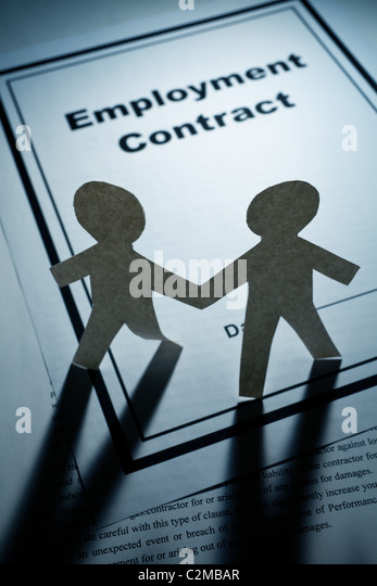 Contract Of Employment Stock Photos  Contract Of Employment Stock