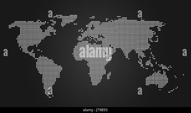 India Map Black and White Stock Photos  Images - Alamy - Black And Grey World Map