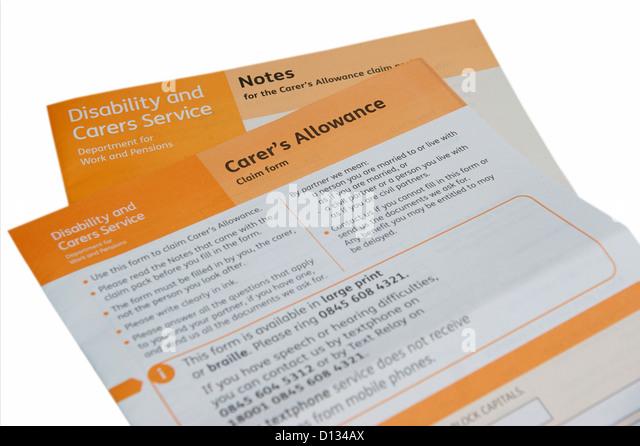 Claim Form Stock Photos \ Claim Form Stock Images - Alamy - attendance allowance form
