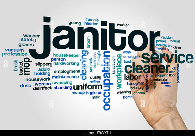 Janitor Word Cloud Concept Stock Photos \ Janitor Word Cloud - another word for janitor
