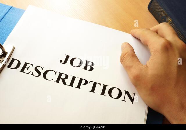 Job Descriptions Stock Photos  Job Descriptions Stock Images - Alamy - Stock Job Description