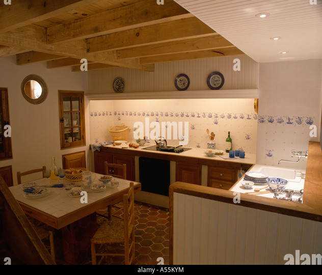 Interiors Archival Kitchens Town Stockfotos \ Interiors Archival Esszimmer  70er Jahre