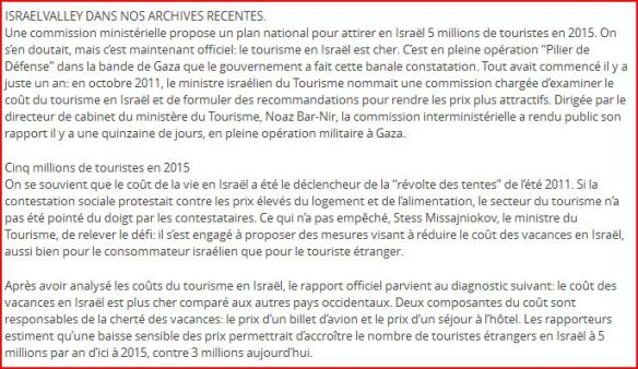 Si le tourisme est trop cher en Israel allez en Palestine