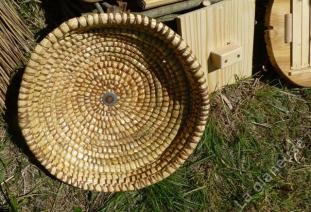 Couvercle bois et dessous du couvercle paille