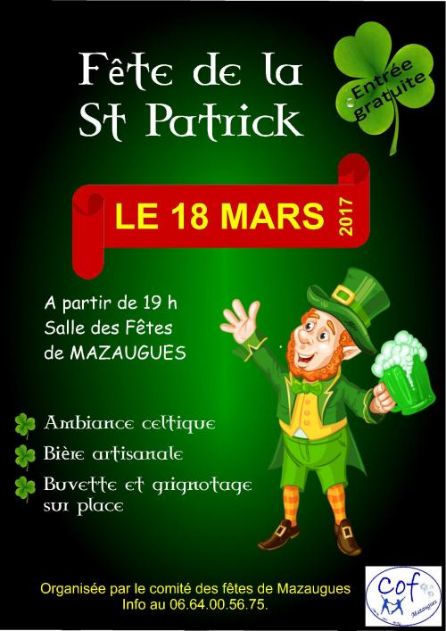 Biere Nature Et Decouverte Fête De La Saint-patrick : Fête - Tradition à Mazaugues
