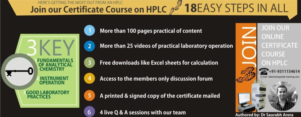 What are the benefits of joining the Certificate Programme on HPLC?